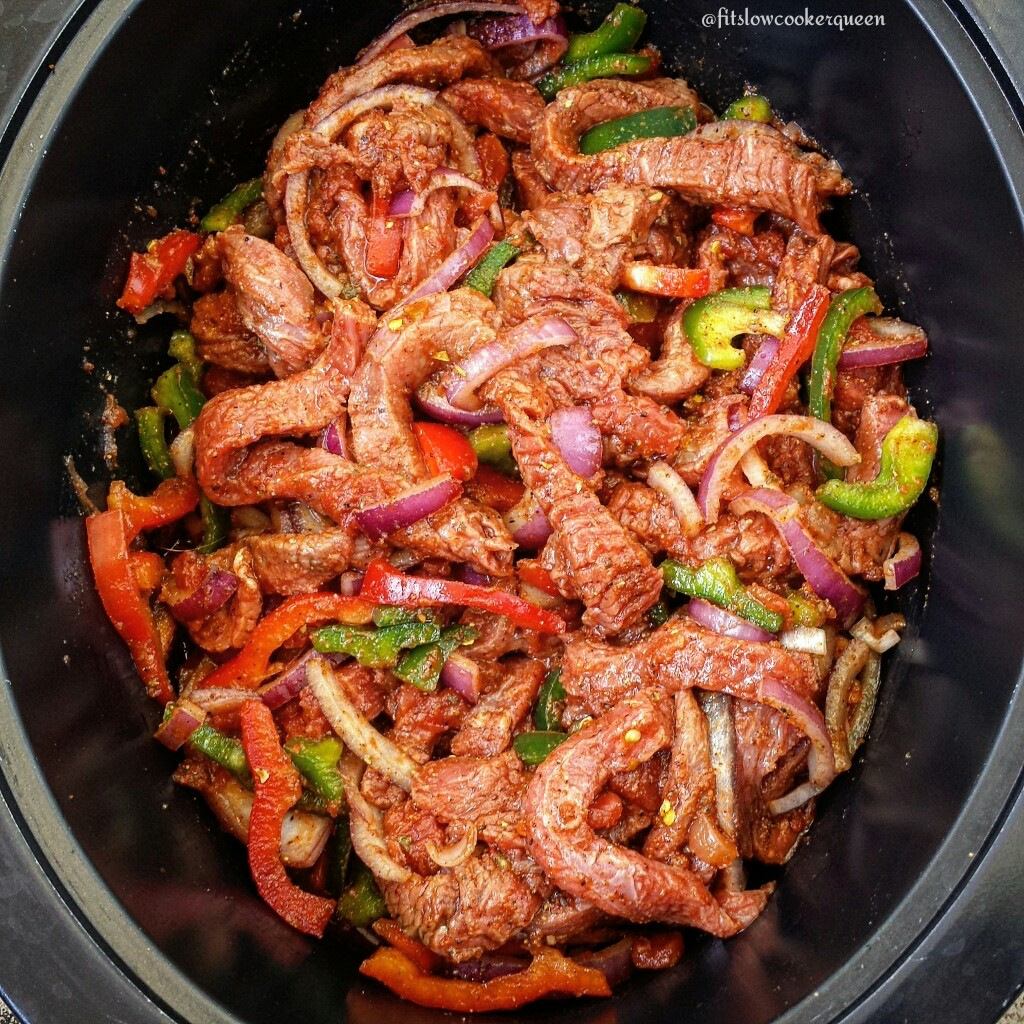 There are only 5-Ingredients in this slow cooker steak fajitas recipe. This easy yet delicious crockpot dish is perfect any day of the week.