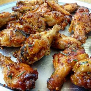 5-Ingredient Slow Cooker Honey-Dijon Wings