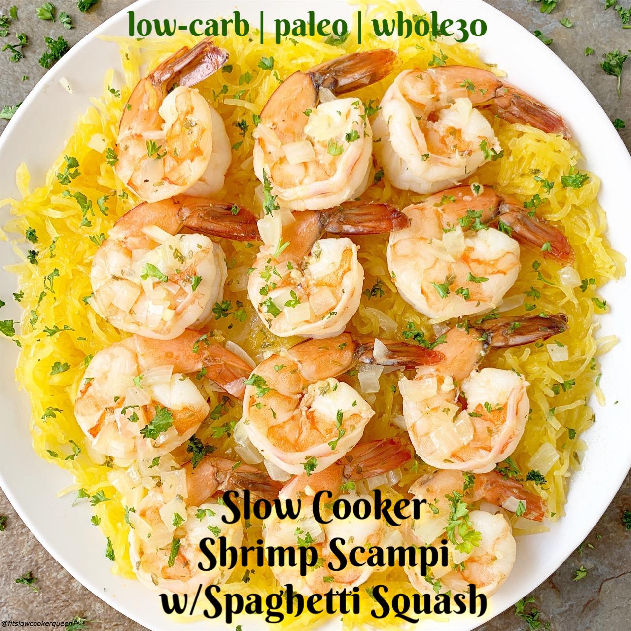 paleo diet recipe shrimp scampi with spaghetti squash