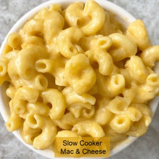 This mac & cheese recipe only uses a few ingredients one of which is uncooked macaroni elbow. Make this easy comfort food in your slow cooker.