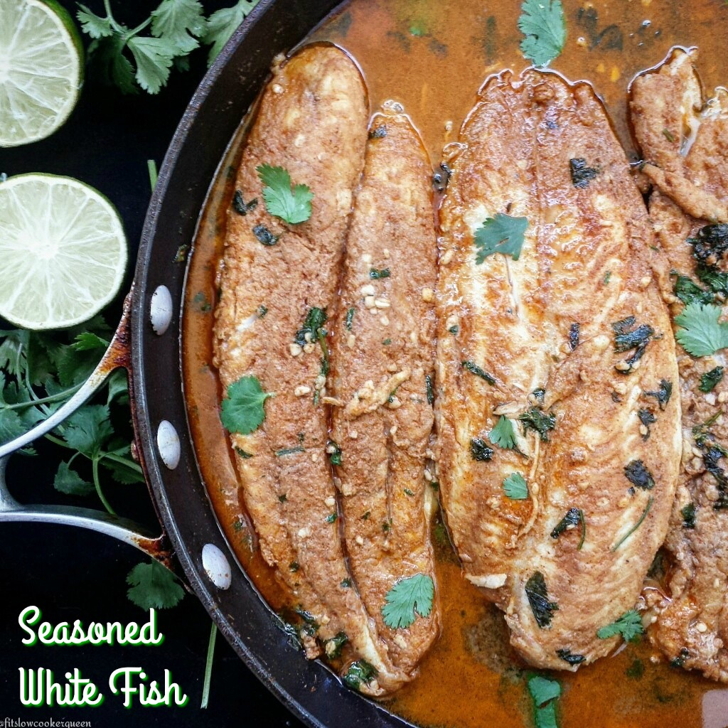 This seasoned fish recipe works well with most white fish like cod, tilapia, swai or haddock. Grill, bake or pan-sear your fish for a quick & healthy meal.