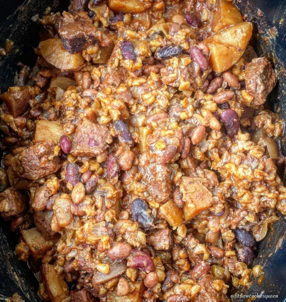 Slow Cooker Beef Cholent