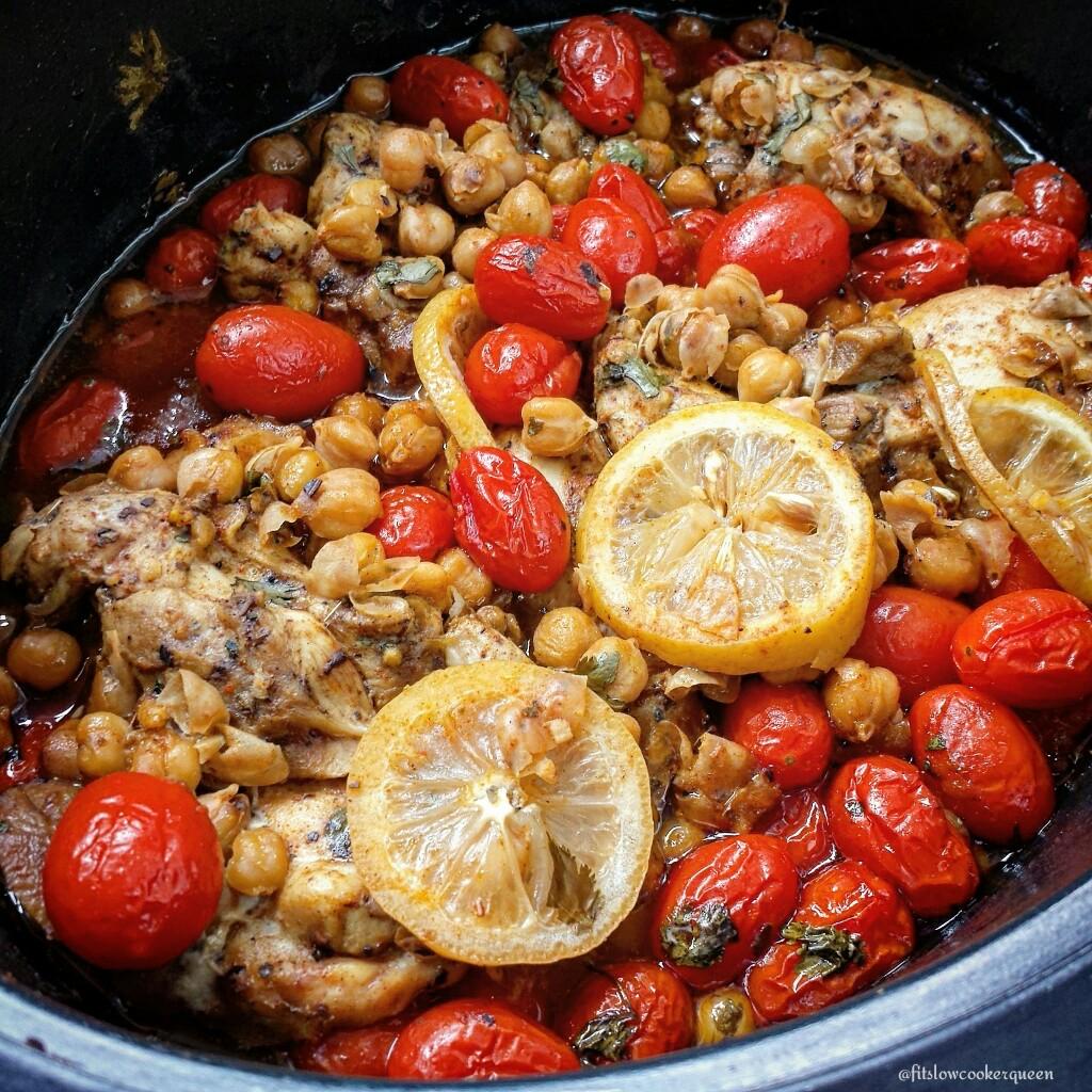 Slow cooker mediterranean chicken fit slowcooker queen slow cooker mediterranean chicken forumfinder Images