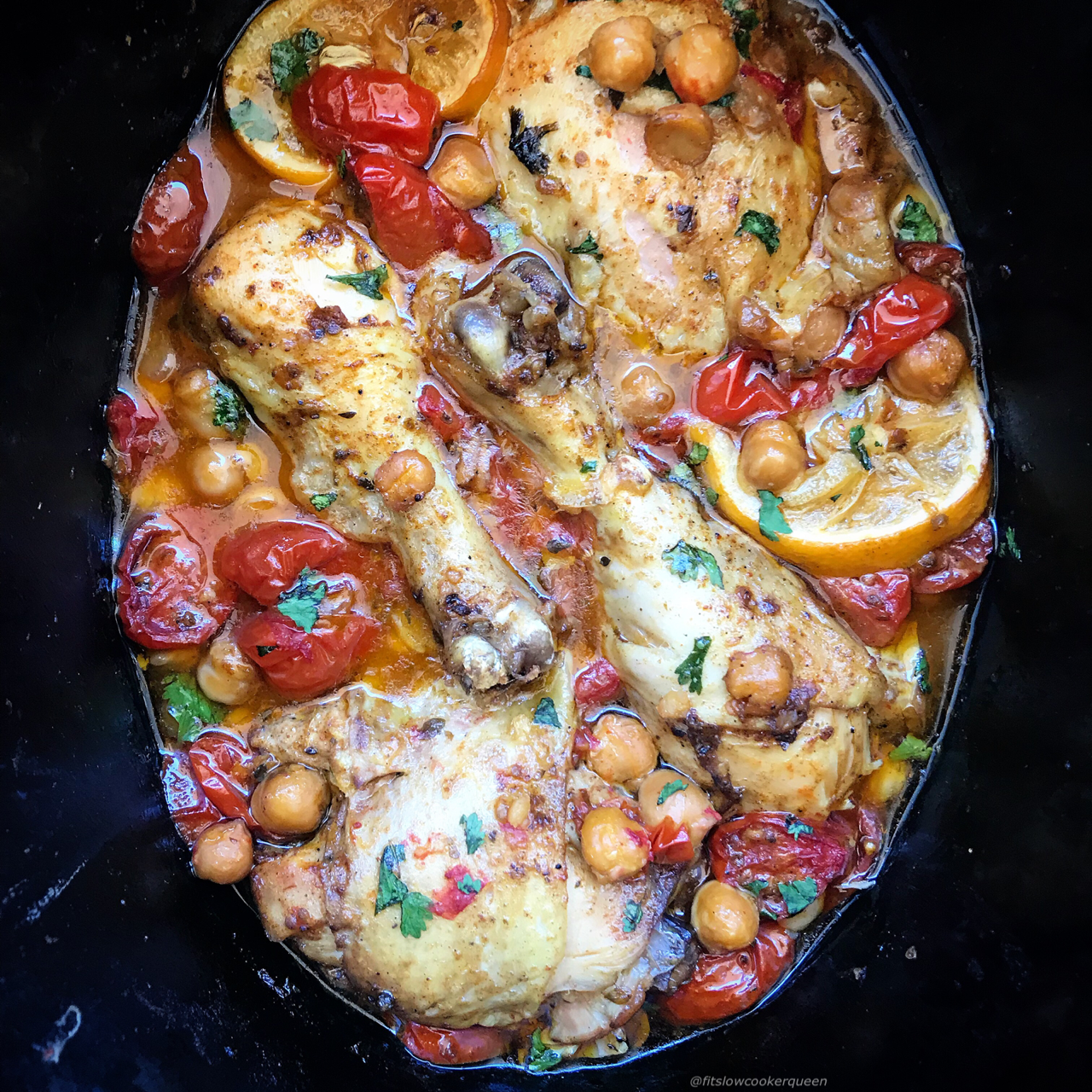 Mediterranean flavors enhance this easy, healthy and super flavorful chicken recipe. Use your preferred cut of chicken whether it be thighs, legs, or boneless chicken breast.