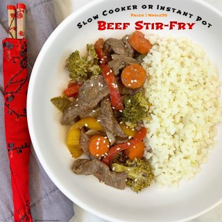 Slow Cooker/Instant Pot Beef Stir-Fry (Paleo/Whole30)