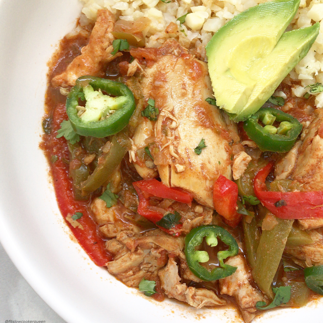 Spicy yet simple Latin flavors fire up this Instant Pot or slow cooker chicken recipe. Paleo, whole30, and low-carb, this is healthy and packing heat!