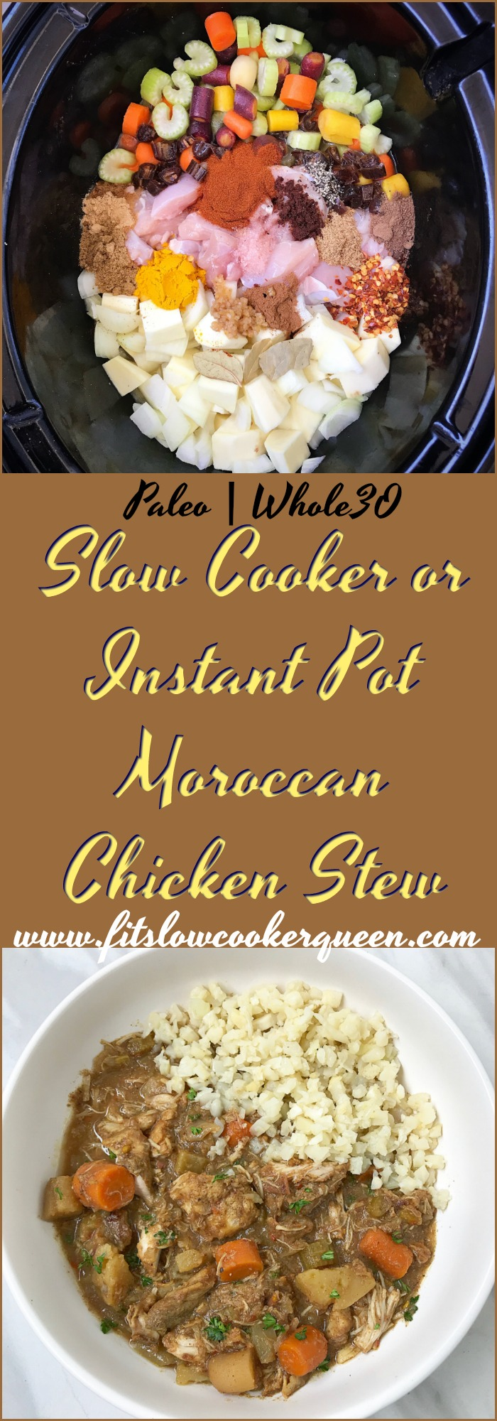 This Moroccan chicken stew has so many flavors it can't help but fill your kitchen with an amazing aroma. Use your slow cooker or Instant Pot for this recipe.