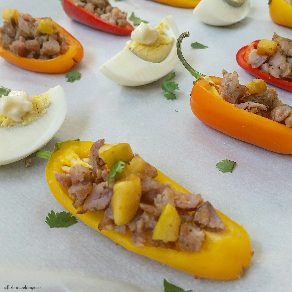 Sausage Stuffed Sweet Peppers