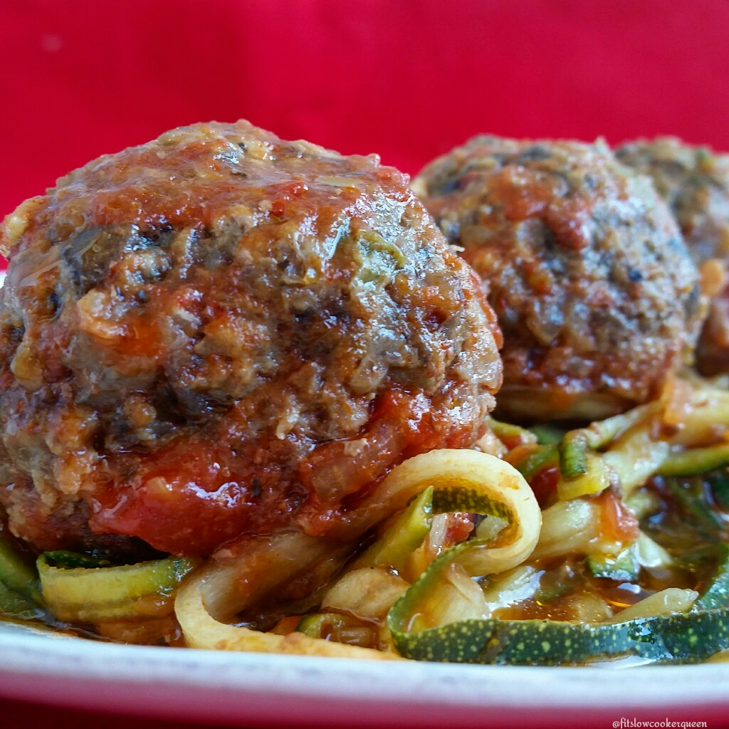 Slow Cooker Beef & Vegetable Meatballs