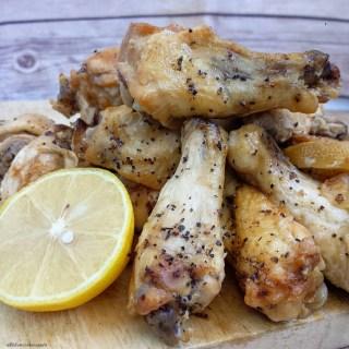 Slow Cooker Lemon-Pepper Wings