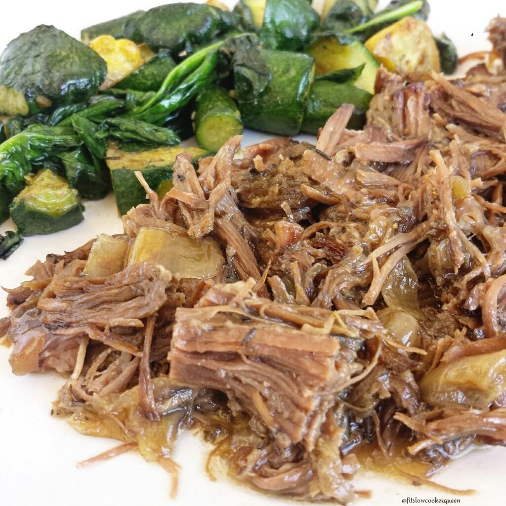 Slow Cooker Seasoned Beef