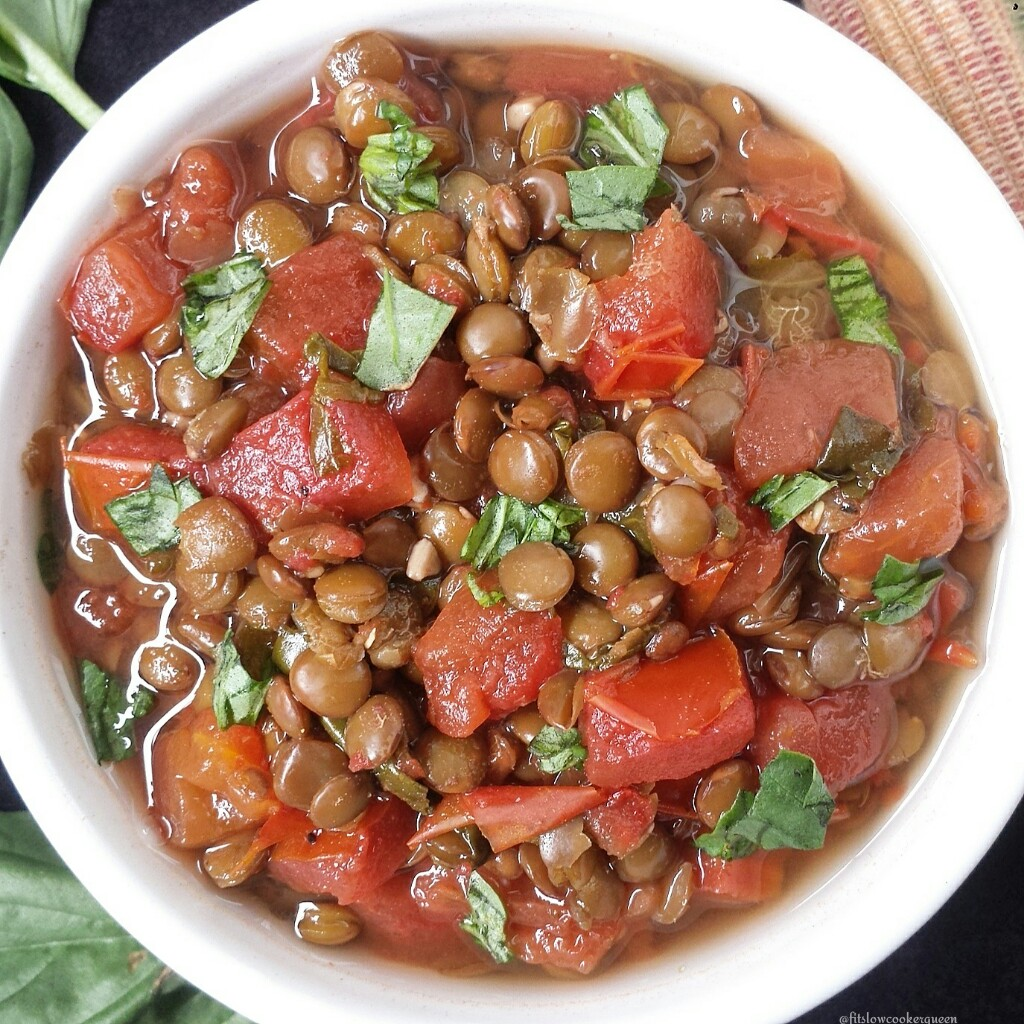 Slow Cooker Bruschetta & Lentil Stew