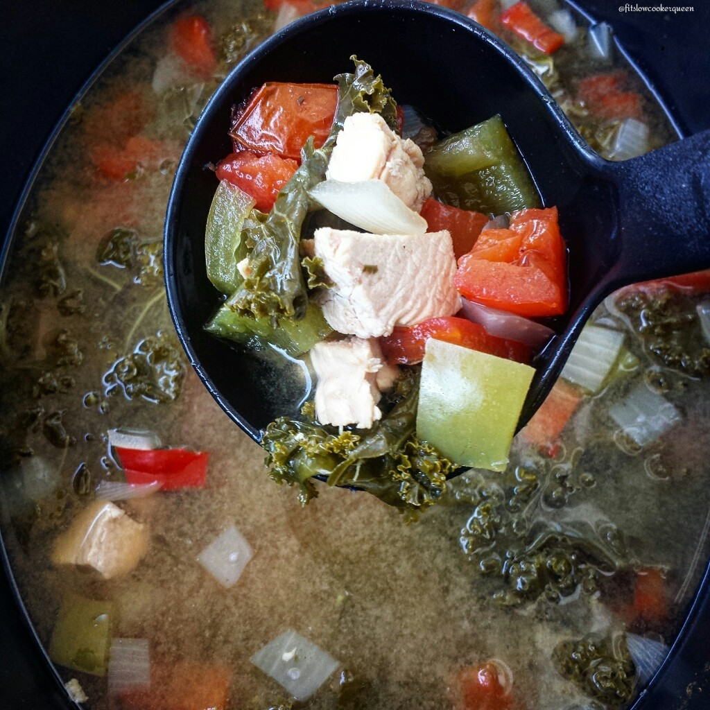 Slow Cooker Detox Turkey & Kale Soup