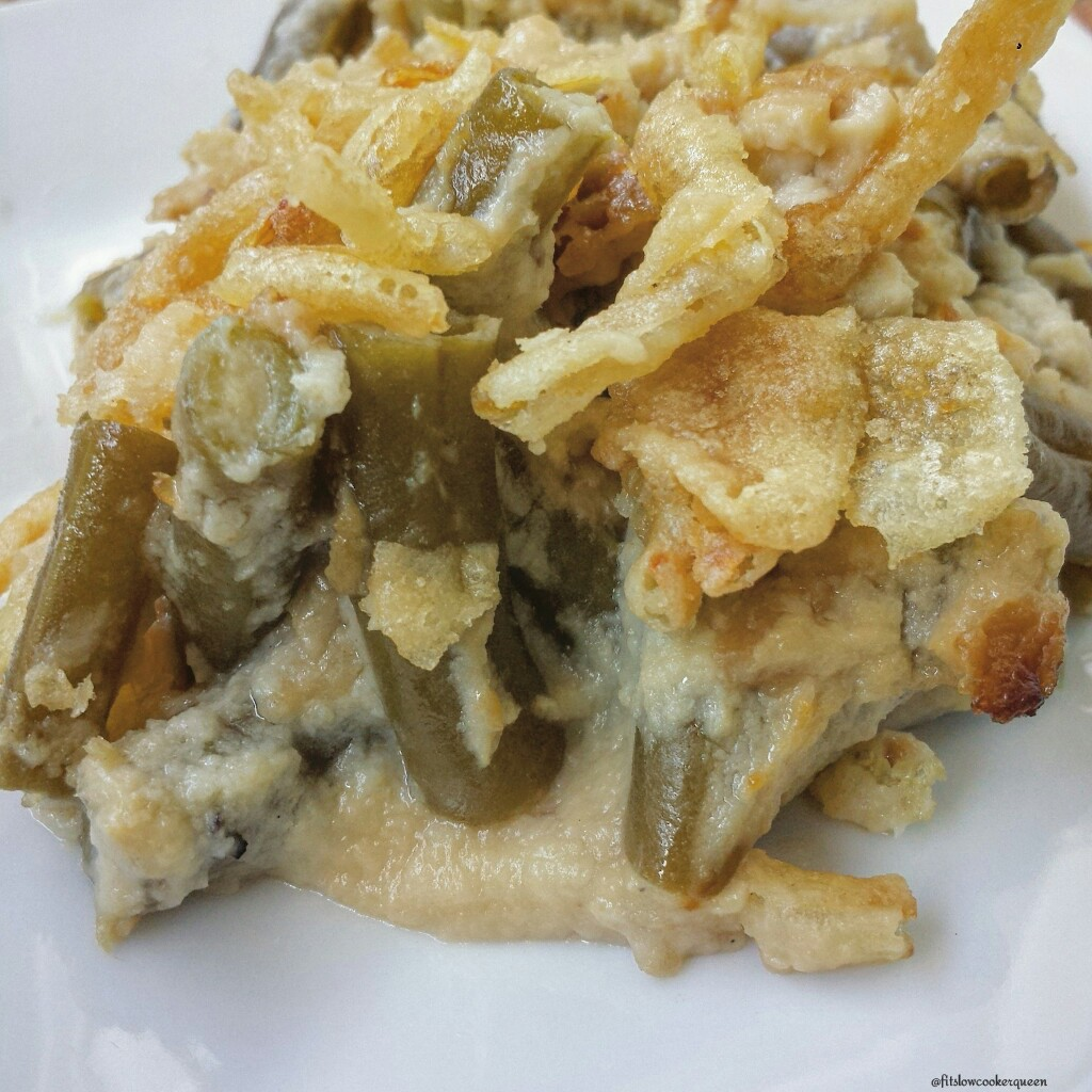 Slow Cooker Green Bean Casserole wCauliflower Sauce