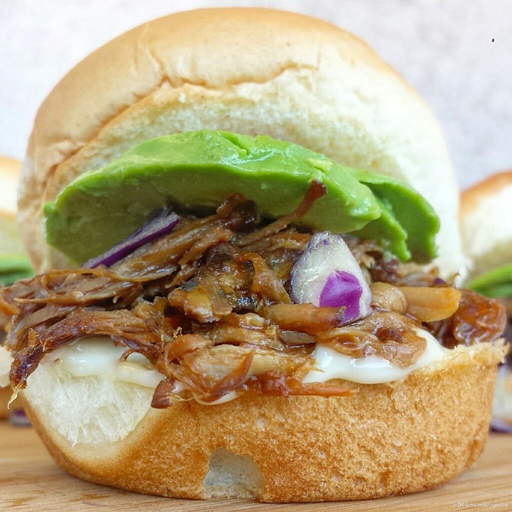 slow cooker hickory smokey bbq pulled pork sliders 3