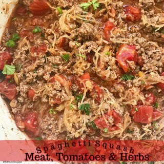 Spaghetti Squash with Meat, Tomatoes & Herbs