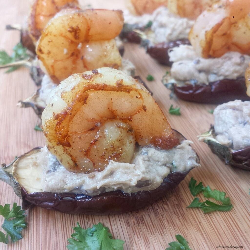 slow cooker baba ganoush shrimp bites 2