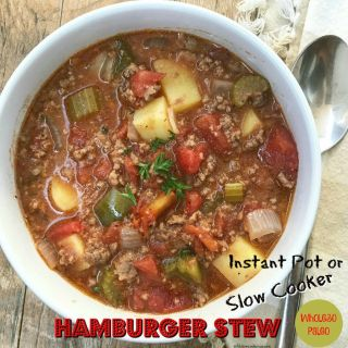 Slow Cooker/Instant Pot Hamburger Stew (Paleo,Whole30)