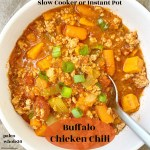 cover pic for slow cooker or instant pot buffalo chicken chili paleo whole30