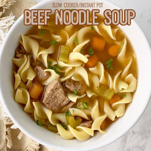 cover pic for {VIDEO} Slow Cooker Instant Pot Beef Noodle Soup