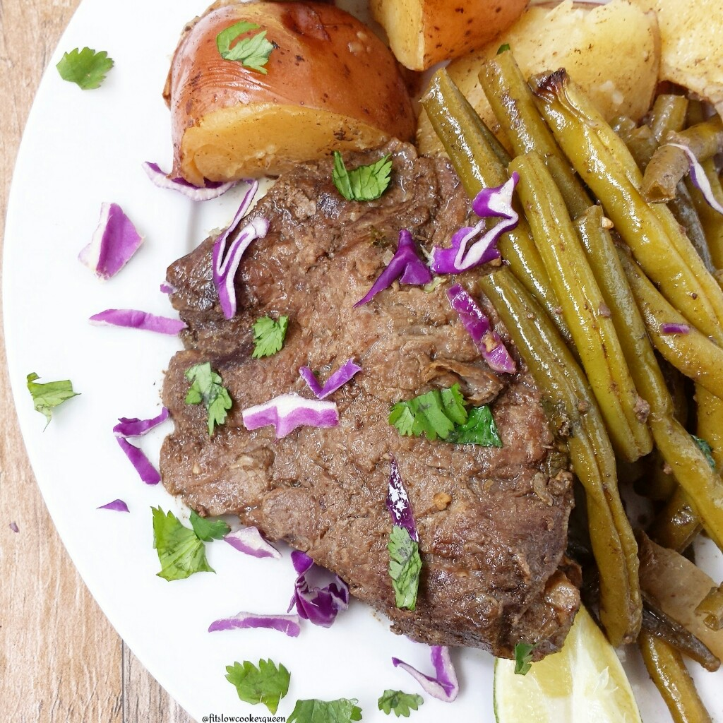 slow cooker caribbean beef potatoes green beans