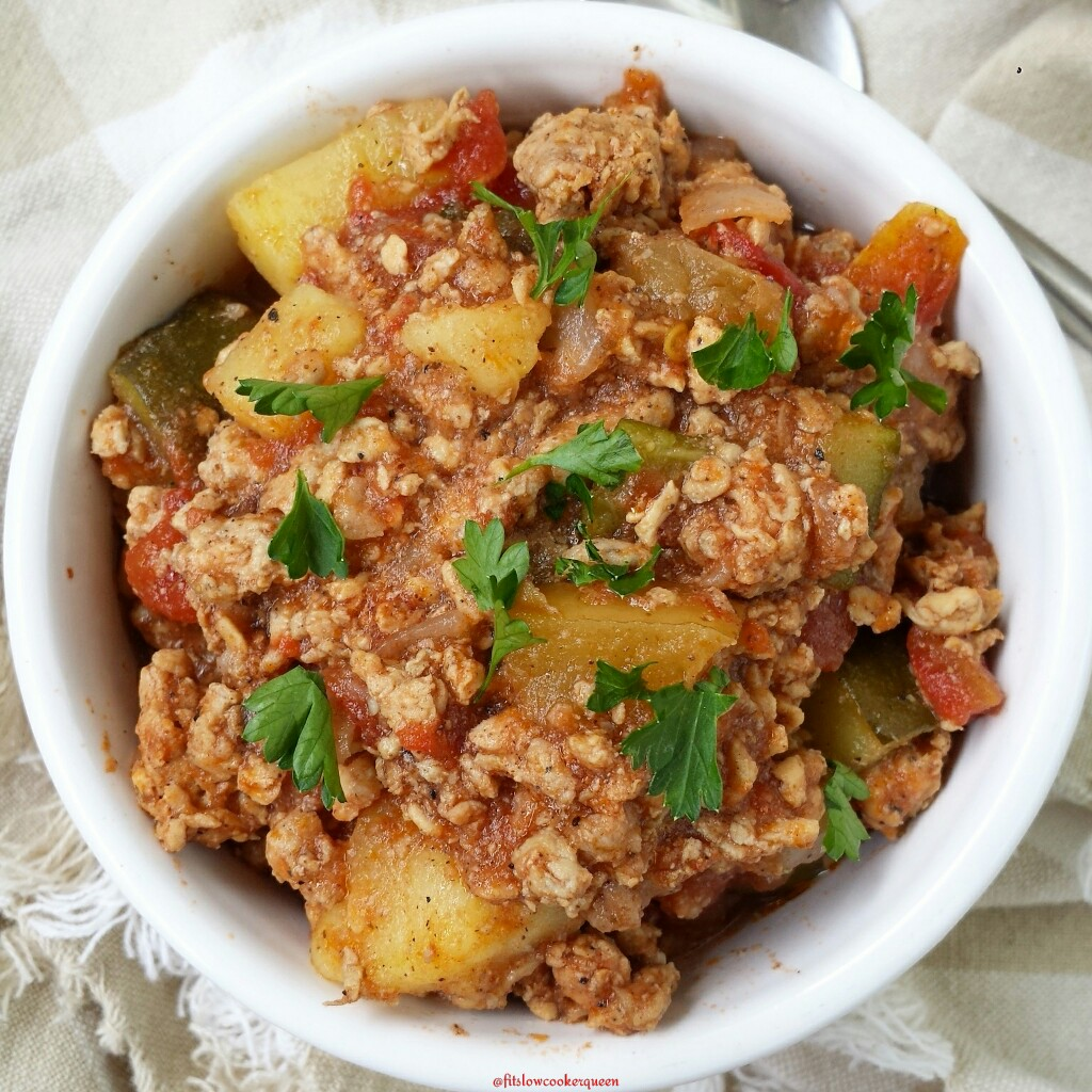 slow cooker chicken apple sausage chili
