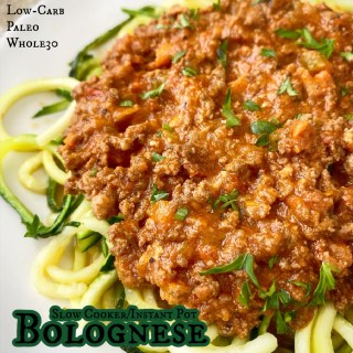 cover pic for Slow Cooker/Instant Pot Bolognese (Low-Carb, Paleo, Whole30)