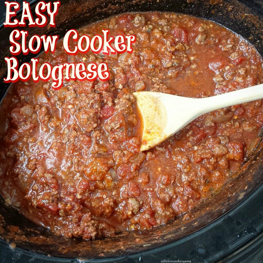 easy slow cooker bolognese