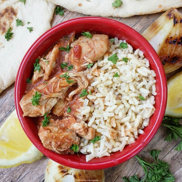 Chicken tikka masala is an Indian-restaurant dish that's perfect for the slow cooker. This whole30 and paleo version is healthy but not lacking in flavor.