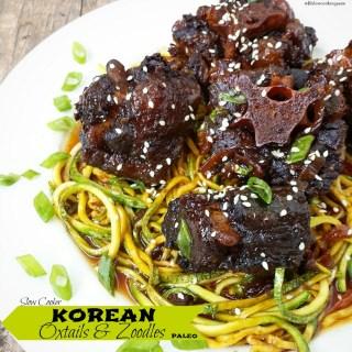 Slow Cooker Korean Oxtails & Zoodles (Paleo)