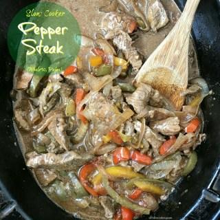 Slow Cooker Pepper Steak (Whole30, Paleo)