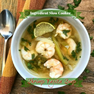 There are only 5 ingredients in this easy yet super flavorful shrimp soup with fajita flavors. Low-carb, whole30, and paleo, this light soup is a great starter.