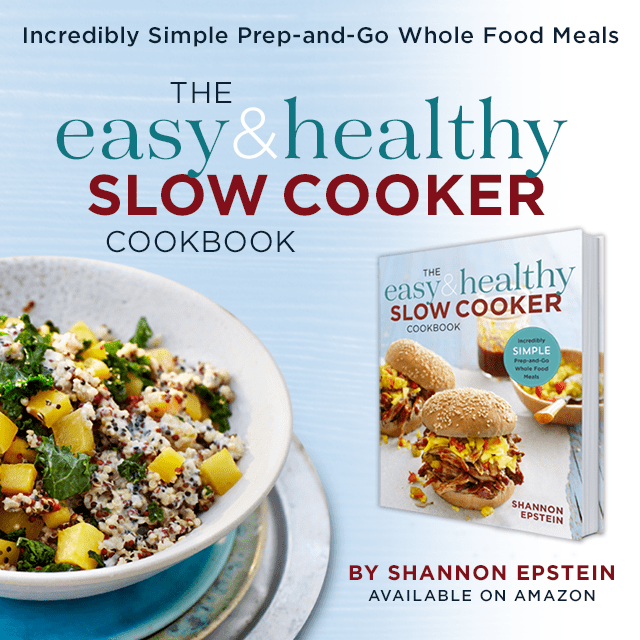The Easy & Healthy Slow Cooker Cookbook features 125+ low-calories and high-nutrient recipes with gluten-free, vegan, vegetarian, and paleo options.