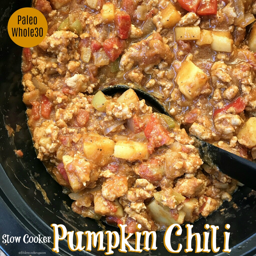 This pumpkin chili is not only hearty but healthy! It's both paleo and whole30 compliant. Yay, slow cooker season is officially here!