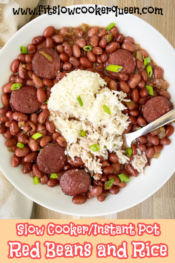 pinterest pin for Slow Cooker_Instant Pot Red Beans and Rice