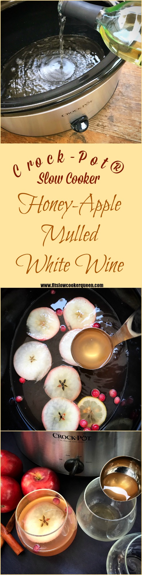 Crock-pots can be used to make so many recipes like this homemade mulled white wine. It's super easy and perfect for entertaining or an evening at home.