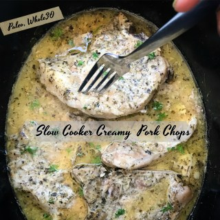 Slow Cooker Creamy FARMER JOHN® Pork Chops (Paleo,Whole30)
