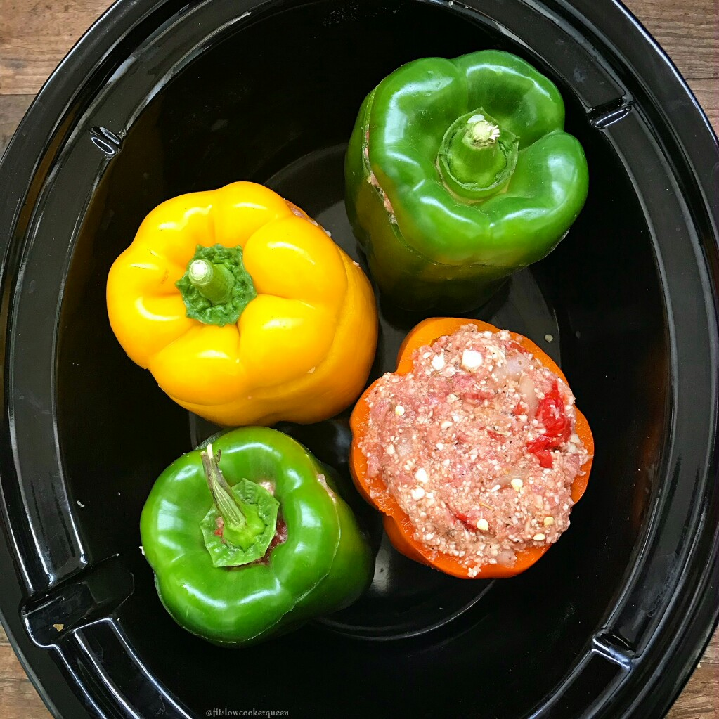 Using cauliflower rice, these slow cooker stuffed peppers are not only low-carb but also paleo and whole30. This recipe is not only healthy but easy too.