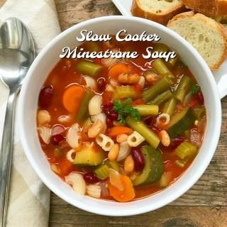 Slow Cooker Minestrone Soup (Gluten-Free)