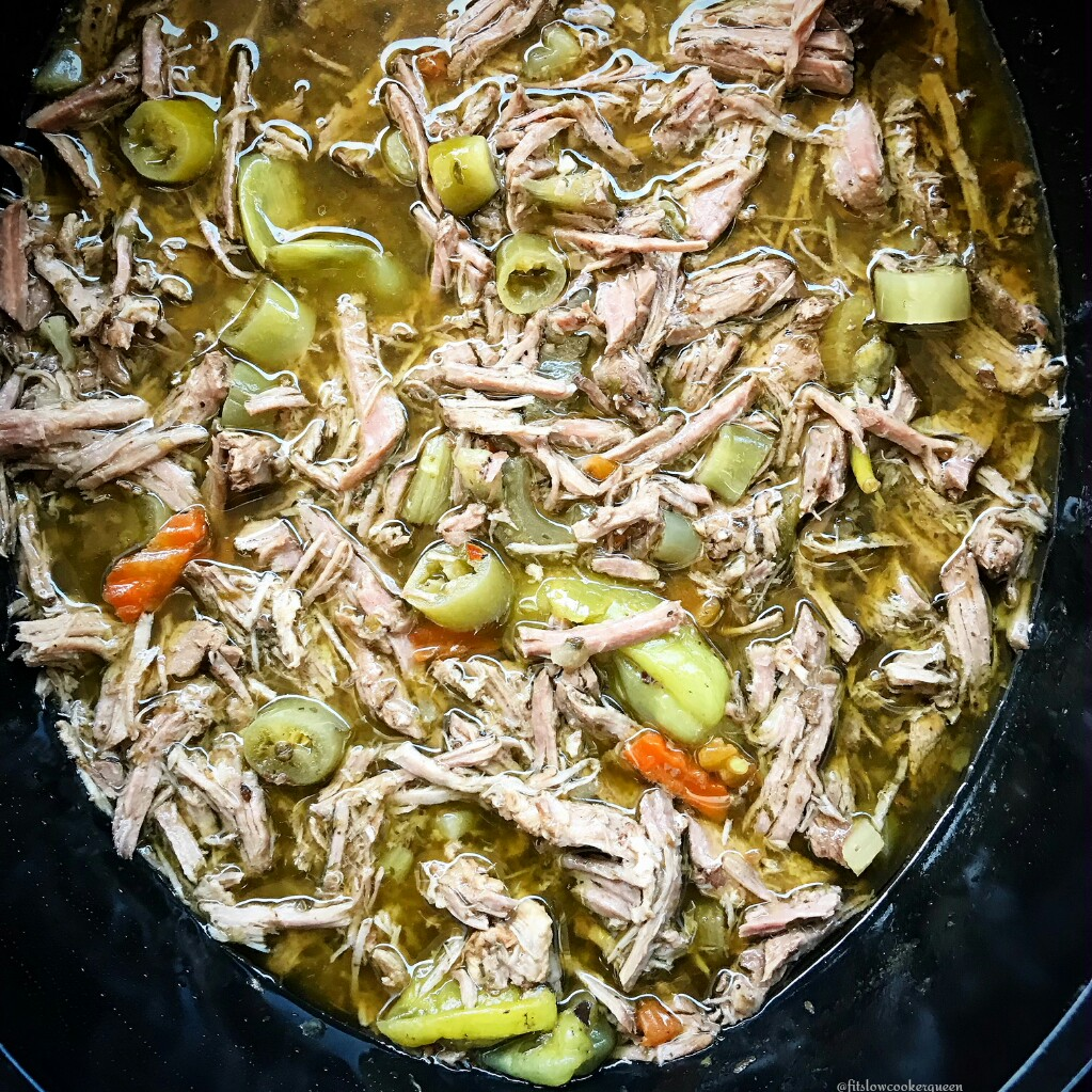 This slow cooker Italian beef is not just packed with flavor but it's also versatile. Shred the beef and you can use the meat in many ways like in a sandwich or lettuce wraps.