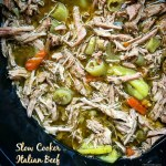 This slow cooker Italian beef is not just packed with flavor but it's also versatile. Shred the beef and you can use it meat in so many ways whether like in a sandwich or lettuce wraps.