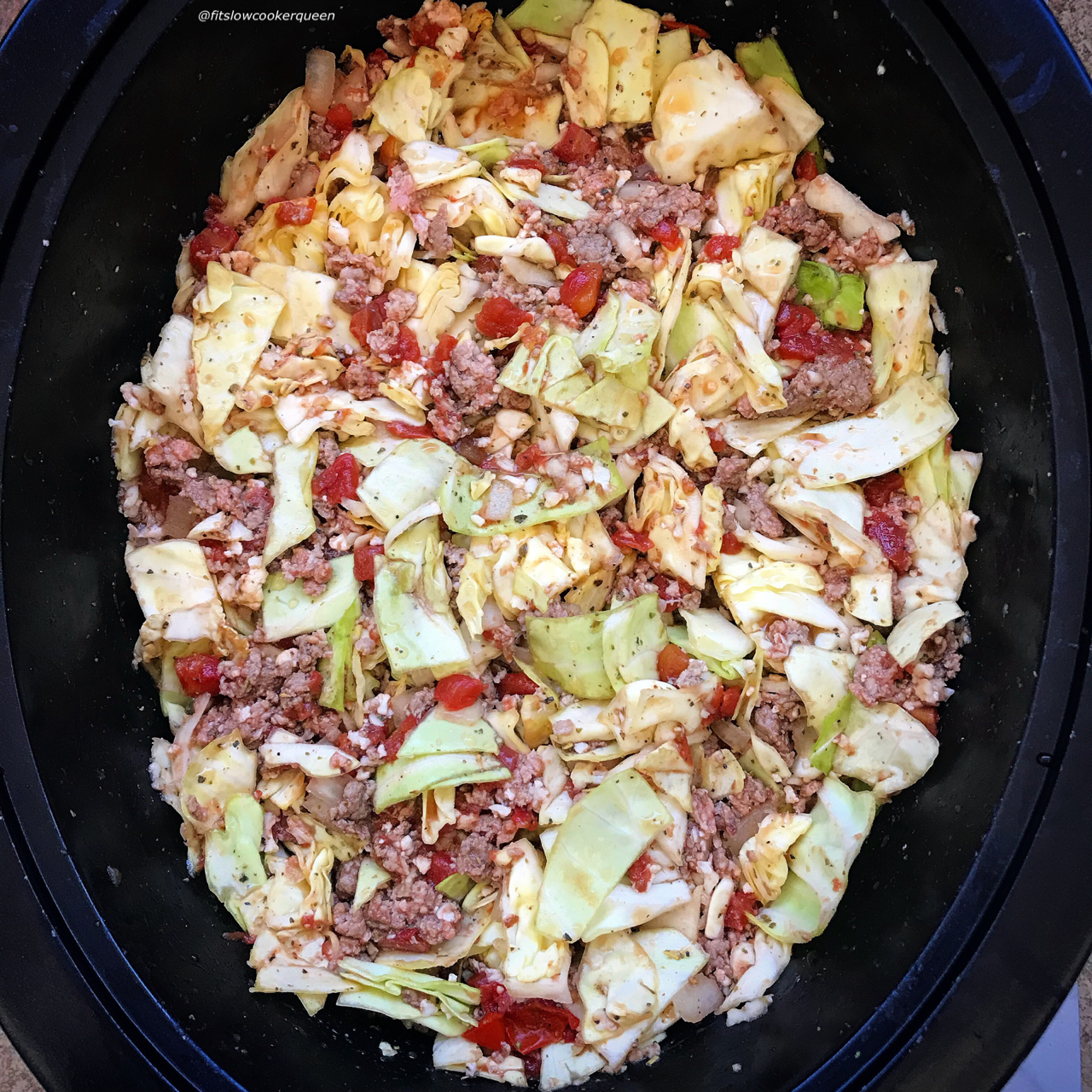 Instead of rolling your cabbage rolls, add the ingredients to the slow cooker and eat themunstuffed! This slow cooker dish has all the elements of a traditional cabbage roll, but without the fuss. It's also low-carb, paleo and whole30.
