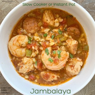 {VIDEO} Slow Cooker/Instant Pot Jambalaya (Low-Carb, Paleo, Whole30)