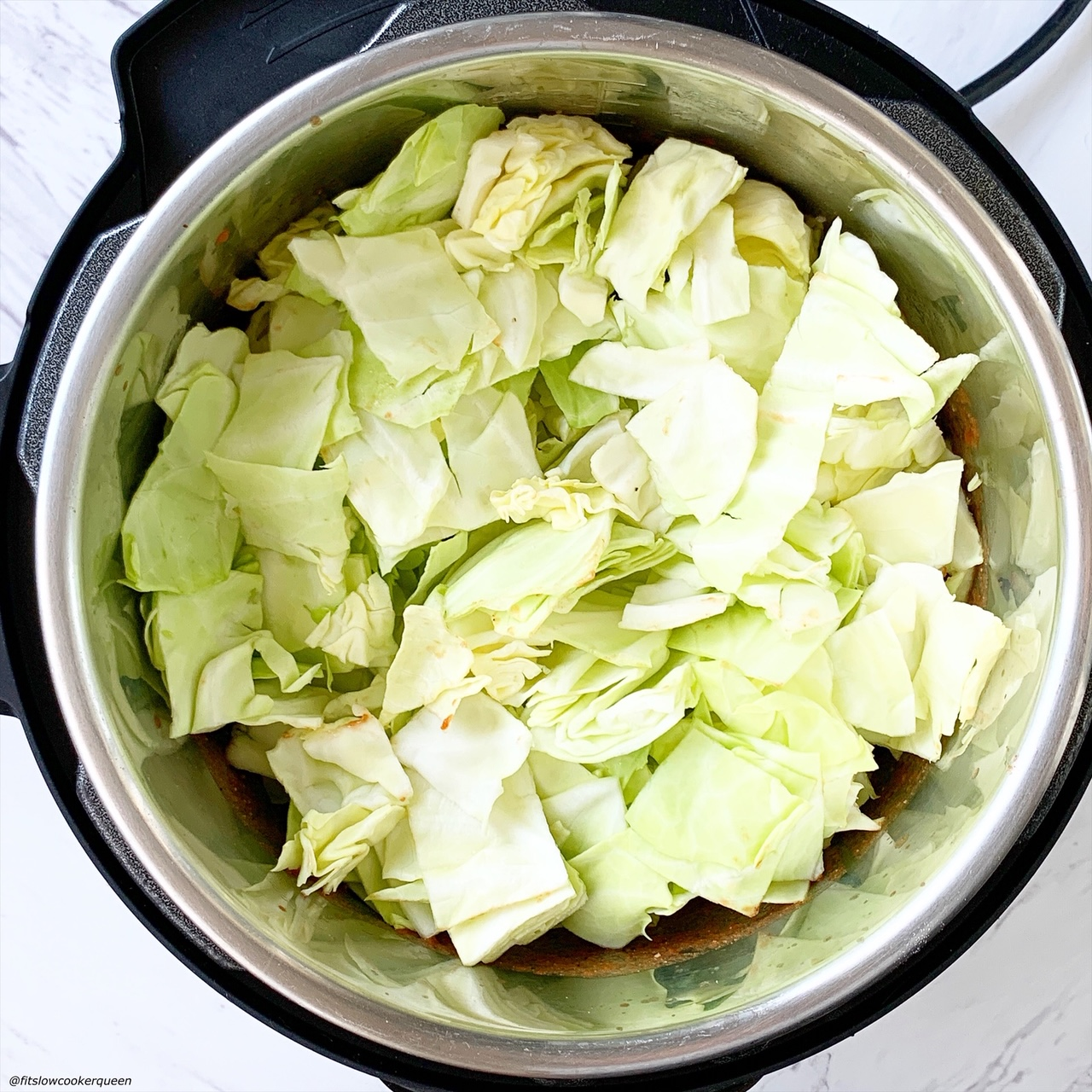 add raw cabbage to the electric pressure cooker