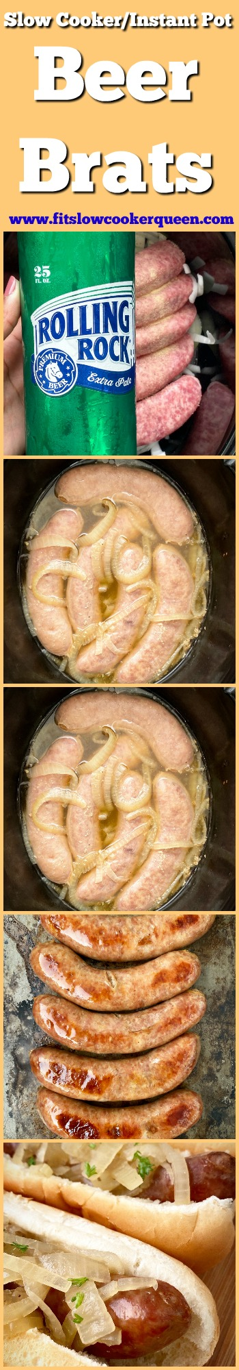 another pinterest pin for {VIDEO} Slow Cooker_Instant Pot Beer Brats