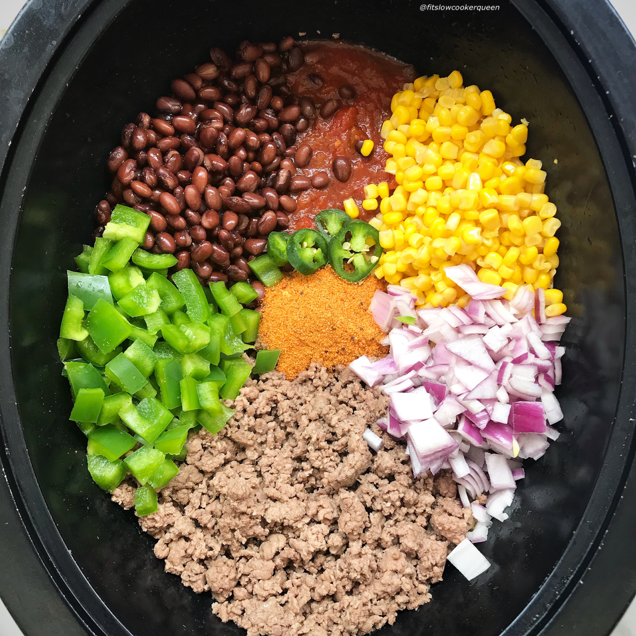 TexMex ingredients and flavors combined with the ground meat of choice make for a quick and easy slow cooker meal. Spice up your next Taco Tuesday with this meat can be served in so many different ways -  tacos, enchiladas, salad, lettuce wraps etc.