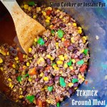 TexMex ground meat can be made in your slow cooker or electric pressure cooker (Instant Pot). Use the ground meat of your choice in this quick & easy recipe.