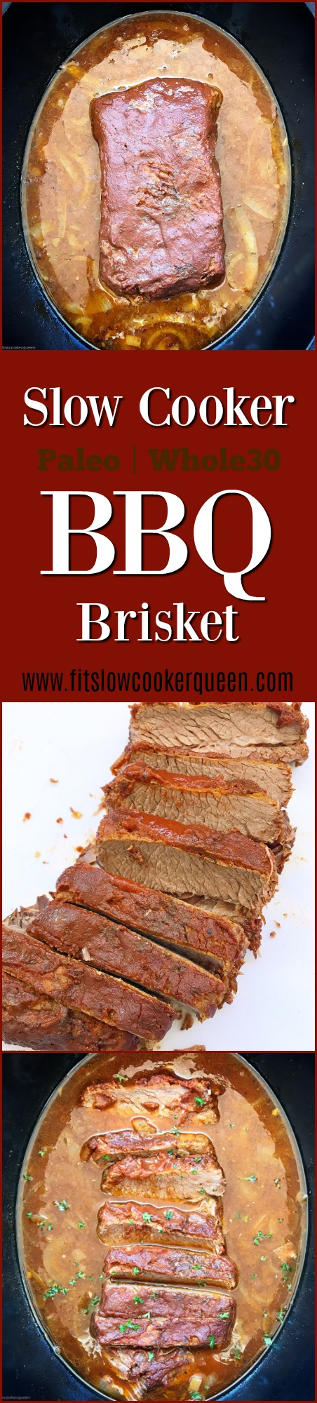 This simple BBQ brisket recipe uses a homemade, tangy sauce that's both paleo and whole30 compliant. Brisket is usually made on the barbecue but this tough yet delicious cut of meat is also perfect for the low & slow cooking method of the slow cooker.