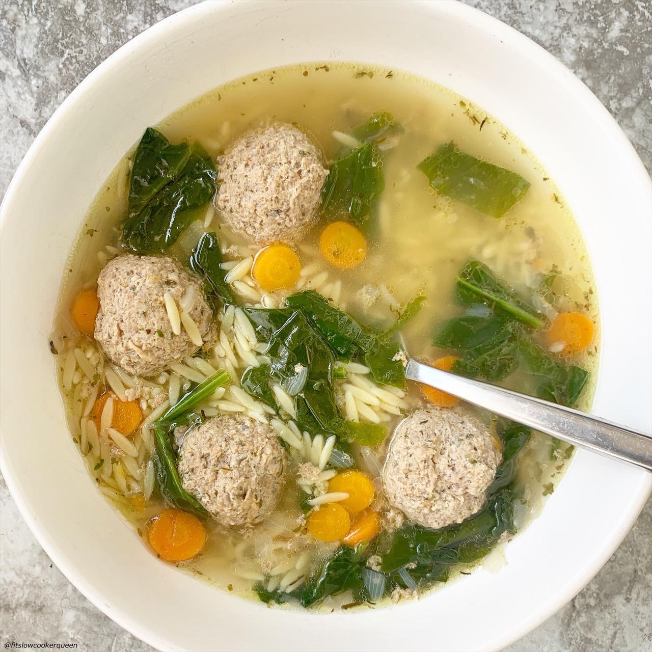 bowl of italian wedding soup