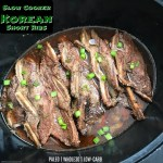 Korean Short ribs aren't known for being cooked in the slow cooker but with the right sauce they make they're perfect for it!